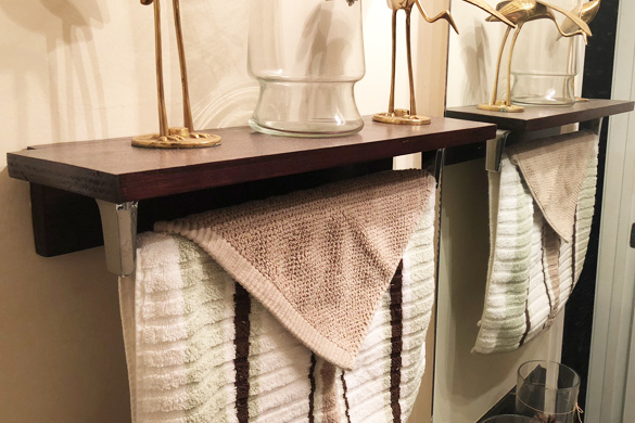 Bathroom DIY decorating shelves