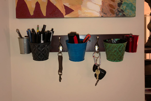 Location selection for a DIY wall mounted coat rack