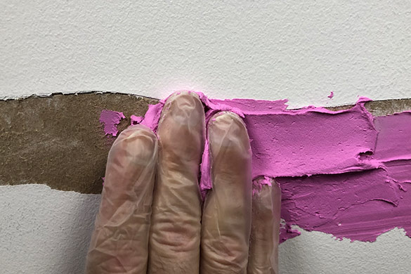 Spackle hand application for drywall repair