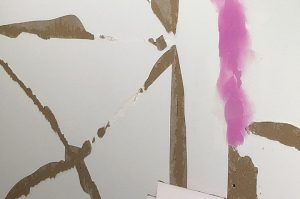 Torn drywall paper repair
