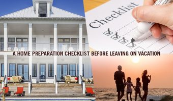 Home preparation safety checklist before leaving on vacation