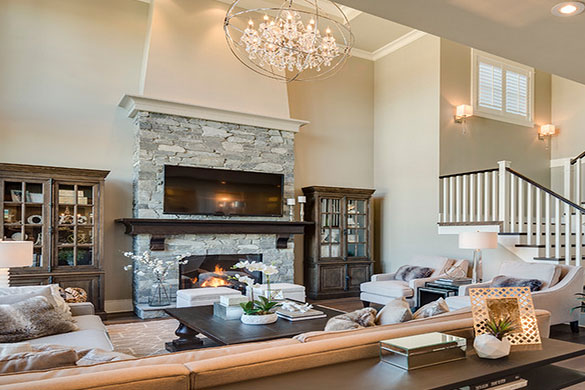 Living room architecture fireplace seating options and design